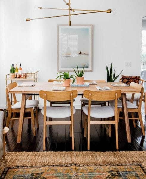 Anita Yokota pairs our Ecole dining chairs with the Madera table for a family-friendly, stylish dining space.