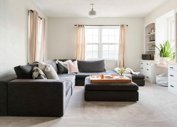 Our Gaba sofa looking leisurely and gorgeous over on Design*Sponge.