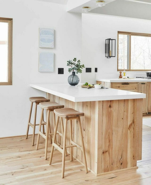 Article Canyon leather stools from Emily Henderson