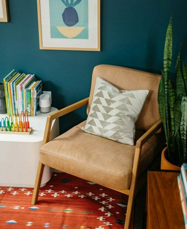 Article leather armchair in The Effortless Chic's home