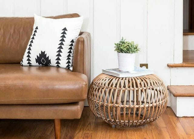 Article Bella tan leather sofa from Rachel Taylor
