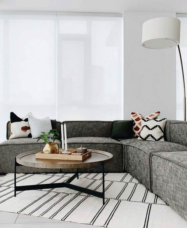 Article Quadra sofa by Nyla Free Designs.