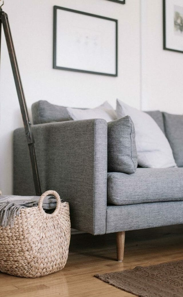 Article's Anton sofa looks perfectly minimal in this naturally lit room.