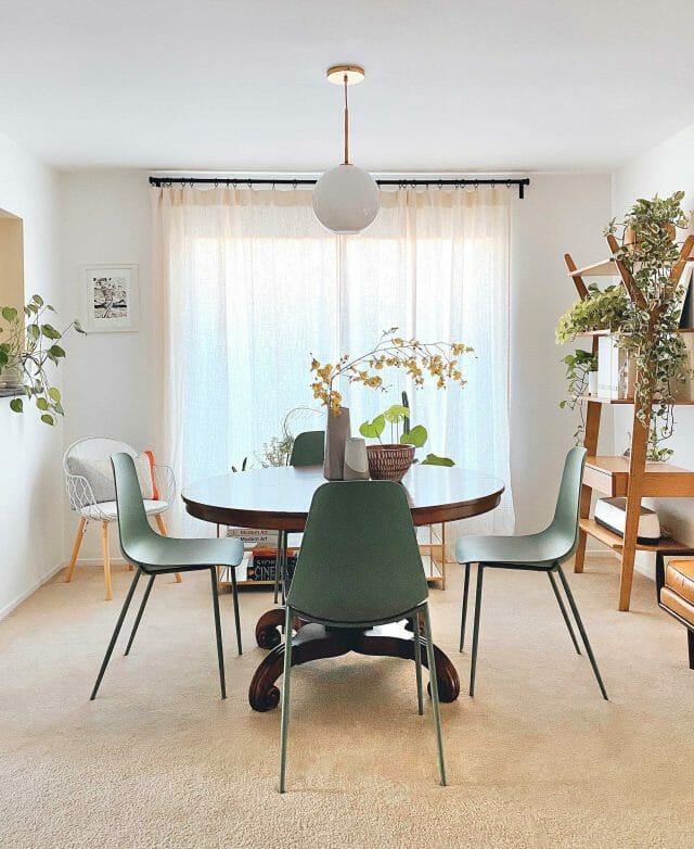 Monica Leed's dining space, where she puts her organizational tips to use.