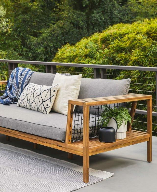 Article's Callais sofa on an outdoor deck