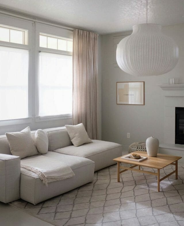 A minimalist home from blogger A Merry Mishap